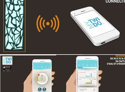 objeto conectado, ahorro de 30 a 70% en su factura de agua y de energía