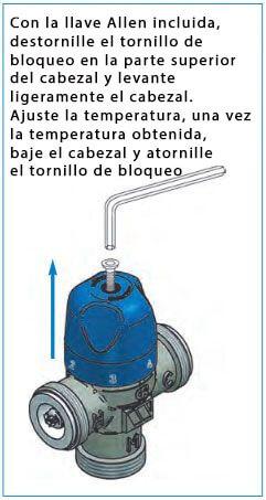bloqueo temperatura de mezcla mezclador-termostático-fuente